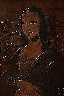 Obrazy - Kožený obraz Mona Lisa - 8983422_