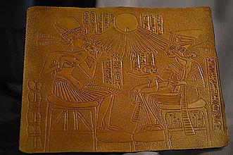 Obrazy - Kožený obraz - egyptský motiv. - 8983430_