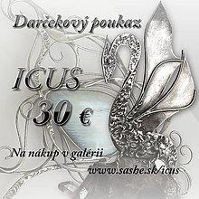 Darčekové poukážky - Darčekový poukaz 30e - 8982510_
