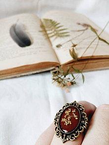 Prstene - Krása sušených kvetov - prsteň - 8983339_