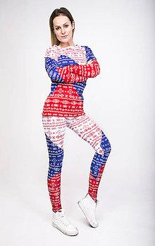 Nohavice - Tricolora Čičmany - termo oblečenie - 8981579_