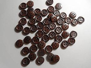 Galantéria - Drevené  gombíky farby tmavej čokolády - 8983344_