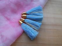 - Malé strapčeky s hlavičkou - pár (Modrá) - 8981445_