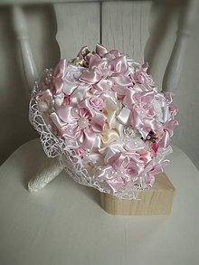 Kytice pre nevestu - Ružová,biela a krémová - 8982115_