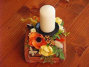 Svietidlá a sviečky - Jarný svietnik so sviečkou - 8980978_