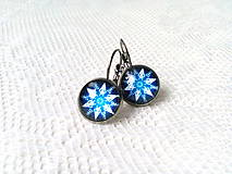 Náušnice - Winter snowflake earrings - 8986489_