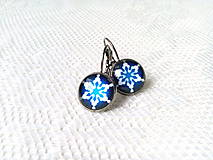 Náušnice - Winter snowflake earrings - 8986518_