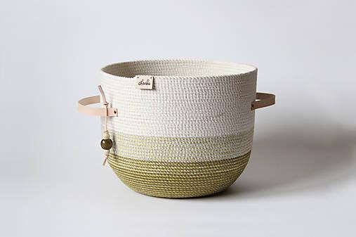 Košíky - Košík olivový - 8987355_