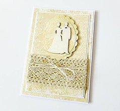 Papiernictvo - pohľadnica svadobná - 8984473_