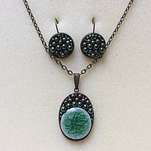 Sady šperkov - sada šperkov: zelená mozaika - 8984701_