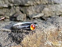 Prstene - Strieborný Prsteň s Karneolom - 8986040_