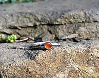 Prstene - Strieborný Prsteň s Karneolom - 8986041_