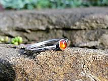 Prstene - Strieborný Prsteň s Karneolom - 8986042_
