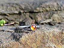 Prstene - Strieborný Prsteň s Karneolom - 8986043_