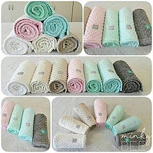 Textil - Obojstranné minky deky - 8987082_