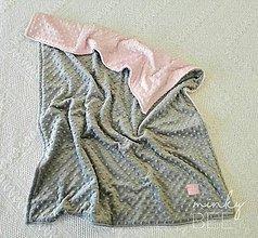 Textil - Obojstranné minky deky   (Silver/Blush) - 8987114_