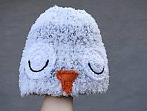 Detské čiapky - Hebká a huňatá čiapka Snežná sova - 8984655_