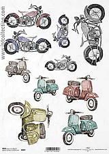 Papier - Ryžový papier Motorky - 8985398_
