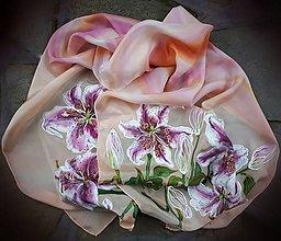 Šály - Neha- hodvábny maľovaný šál - 8984744_