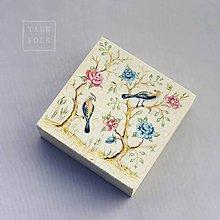 Krabičky - Ručne maľovaná šperkovnica