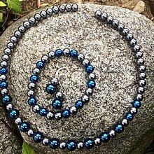 Sady šperkov - Perličkový set 3v1 Modro-Sivý - 8986033_