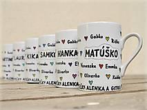 Nádoby - Maľované hrnčeky pre deti s menami - 8984997_