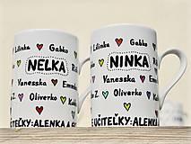 Nádoby - Maľované hrnčeky pre deti s menami - 8984999_