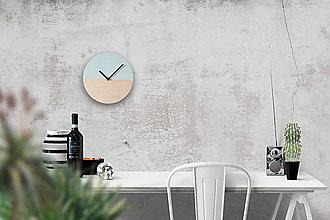 Hodiny - Nástenné hodiny Mentolový minimalizmus - 8987284_
