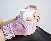Pletené nátepníčky - ružovofialové