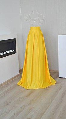 Sukne - MAXI skladaná sukňa - 8984258_
