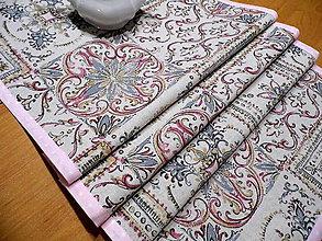 Úžitkový textil - štóla ornamenty - obrus stredový - 8986967_