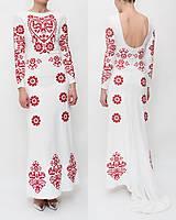 Šaty - Dlhé biele vyšívané šaty - 8984690_