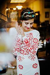 Šaty - Dlhé biele vyšívané šaty - 8984707_