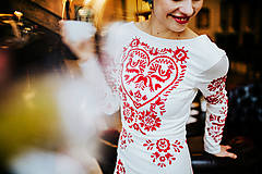 Šaty - Dlhé biele vyšívané šaty - 8984709_