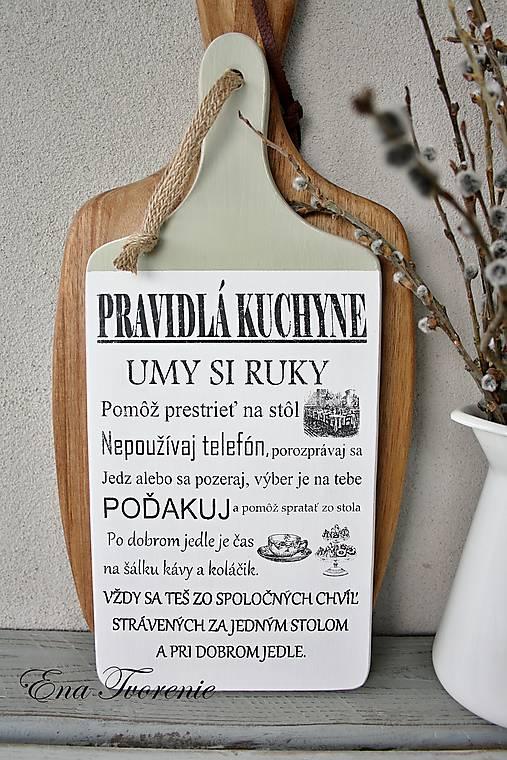 ff2ac784c Lopárik Pravidlá kuchyne (Menší) / enatvorenie - SAShE.sk - Handmade ...
