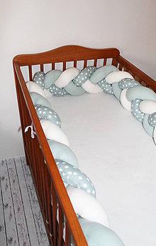 Textil - Mintobodky, zapletaný mantinel do postieľky alebo postele, viac farieb a rozmerov - 8987850_