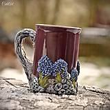 Nádoby - Levanduľový sen - hrnček na čaj, kávu s levanduľou - 8984861_