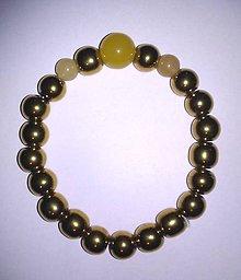Náramky - zlato - žltý náramok - 8986361_