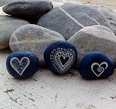 Dekorácie - Srdiečkový raj V - Na kameni maľované - 8984090_