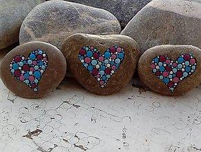 Dekorácie - Srdiečkový raj II - Na kameni maľované - 8984095_