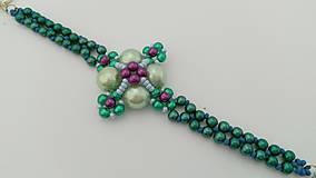 Náramky - Zelený perličkový náramok - 8986492_