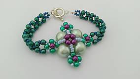 Náramky - Zelený perličkový náramok - 8986493_