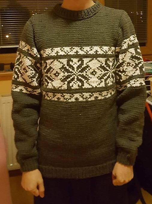 f3ef885d71b3 Pánsky sveter nórsky vzor   z baVlnky - SAShE.sk - Handmade Svetre ...