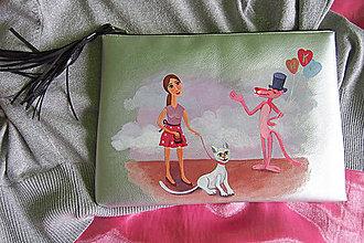 Kabelky - Ručne maľovaná kabelka pre prvé rande - 8987356_