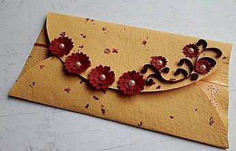 Papiernictvo - Orange 1. - obálka na peniaze - 8985298_