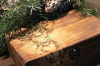 Grafika - Drevená krabička 18 x 12 cm - 8984711_