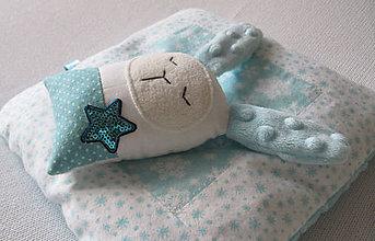 Hračky - zajko s modrou hviezdou... - 8985800_