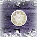 Pomôcky - Podšálka nežná snehová vločka 6 - 8987478_