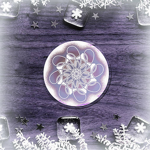 Podšálka nežná snehová vločka 5
