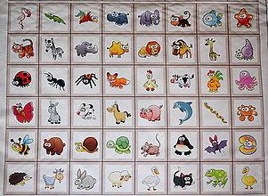 Textil - Zvieratka veľká sada 48 ks - panel - 8988118_